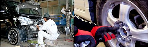大切な車をきれいに早く修理・塗装
